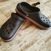 Кроксы сабо шлепки Даго стиль легкие,удобные черные 42/43 27.5см
