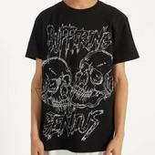 Молодёжная футболка с надписью «Buffering Genius» размер 44/46
