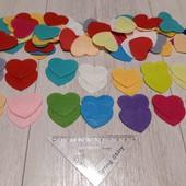 100 шт фетрових сердечок для творчості, навчання