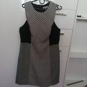 Платье в черно- белом стиле р 48-50