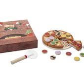 Качественный! Деревянный игровой набор Pizza PlayTive 27 элементов