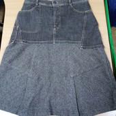 Оригинальная юбка джинс+шерсть , Пот36, Поб46-, сост.отличное