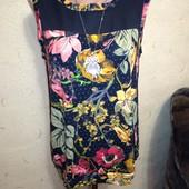 Красивая блузочка с шифоновой вставкой 16/44 размера.