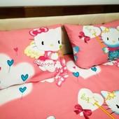 Hello Kitty Наволочка 40*60 Яркая детская расцветка! Отличное качество!