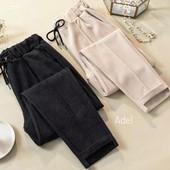 Теплые женские штаны 46-48р мягкий Шерстяной Трикотаж высокая посадка