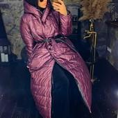 Демисезонное женское куртка-пальто 42 44 46 48 черный слива лимонный коричневый
