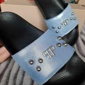 кожаные шлепанцы 36 размер в наличии