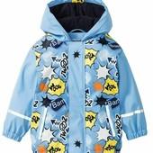 Нова термо куртка дощовик на флісі Lupilu, р.122/128. Дождевик грязепруф