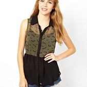 ☘ Лот 1 шт ☘ Блуза без рукавів з легкої тканини Sugarhill Boutique (Англія), рр. наш 46: М євро