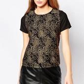 ☘ Лот 1 шт ☘ Вишукана блуза с коротким рукавом Sugarhill Boutique (Англія), рр. наш 44-46: 38 євро