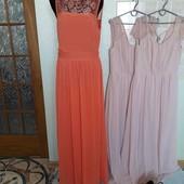 персикове плаття як нове.