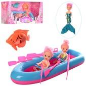 """Готовим подарочки девчонкам! Большой игровой """" Русалочка"""" набор 3 куколки с лодкой 28см!"""