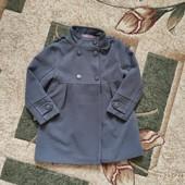 Собирай лоты) экономь на доставке) Красивенное демисезонное пальто серого цвета для девочки 4-5 ле