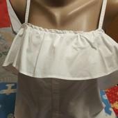 Нарядная блузка белого цвета на S
