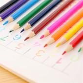 Цветные карандаши 12шт. Яркие цвета.