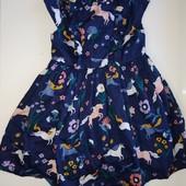 Шикарное, пышное, хлопковое платье M&S с пышным низом на 2-3 года