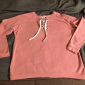 Лонгслив со шнуровкой красивого розового пудрового цвета.новый,без бирки