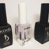 Набор Kodi (коди) для маникюра ,покрытия гель лаком: база 12 мл,топ12 мл,праймер12 мл