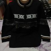 Шикарный чёрный под горло тёплый стречь свитерок.Акрил.Sportswear.3xl,4xl,5xl. Лотов много