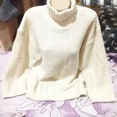 Эксклюзивный белый под горло с крупной вязки тёплый свитерок.Акрил.Scotch&Soda.3xl,4xl,5xl.Лотов мно