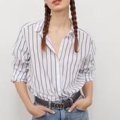 Рубашка из 100% котона H&M Англия. новая с биркой. размер М