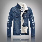 Новая подростковая джинсовая куртка на меху р.164-170
