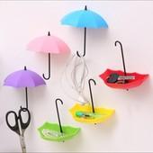"""Набор крючков в форме""""Зонтики""""3 шт."""