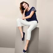 Классические джинсы с вышивкой длиной 7/8 от Tchibo (Германия), р.44евро