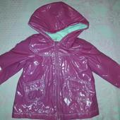 Курточка-дождевик тёплая на девочку 3-4 года, Old navy