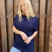 Удлиненный свитерок с кашемиром размер 46-48, молочный