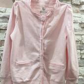 Lupilu розовая кофточка с кружевной отделкой 98-104 см.
