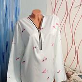 Новая блуза в принт колибри Цвет мята ❤️❤️❤️ Лоты комбинирую бесплатно смотрите остальные