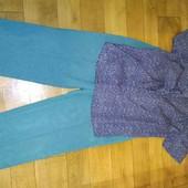 одним лотом,брюки и блуза,в отличном состоянии