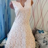 Новое красивенное платье ❤️❤️❤️ Цвет пудра. Полностью кружевное.Лоты комбинирую бесплатно