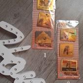 Египетскае магниты на холодильник Египет лот 1 пластинка( в ней 3шт) на выбор куплены в Египте