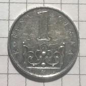 Монета Чехии 1 крона 2000