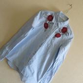 Рубашка с вышивкой Zara ( р.XS)