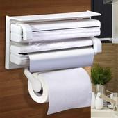 Кухонный держатель Paper Dispenser 3 в 1 для бумажных полотенец, пищевой пленки и фольги