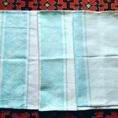 Комплект из 3-х новых кухонных полотенец из дамасковой ткани, отличное качество!