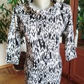 Стильное трикотажное платье F&F, размер-М
