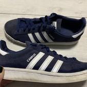 Отличные замшевые кроссовки Adidas оригинал 37,5 размер стелька 23,5 см