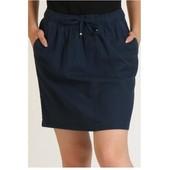 Германия!!! Женская юбка с боковыми карманами! Лен/коттон! 36/38 евро, полномерит!