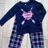 Очаровательная пижамка с фланелевые и штанами, Lupilu, размер 86/92