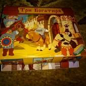 кубики с мультфильма Три богатыря в коробке, собери картинку