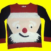Новогодний свитер на 7-8 лет,рост 128 см,M&Co