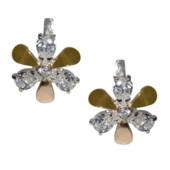 Отличный подарок !Изысканные роскошные серебряные серьги- 925 пр.с золотом 585 пр. .Новые с биркой!
