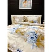 Постельное белье Lotus Premium - Vanessa семейное - два пододеяльника.