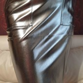 Юбка еко шкіра з карманами розмір S