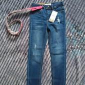 Крутезні стрейчеві джинси скінні Кіабі з поясом