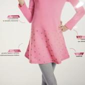 Трикотажное платье на микрофлисе девочке 152 см yangstyle
